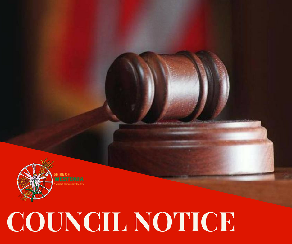 PUBLIC NOTICE OF CHANGE OF MEETING DATE ORDINARY COUNCIL MEETING OCTOBER 2020