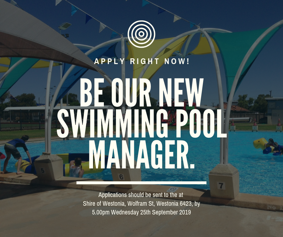 POSITION VACANCY- SWIMMING POOL MANAGER