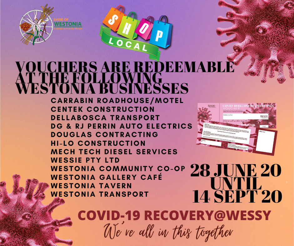 COVID-19 RECOVERY@WESSY – $50 TO SPEND NOW!