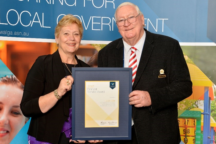 CR LOUIS GEIER — WINNER OF THE WESTERN AUSTRALIAN LOCAL GOVERNMENT ASSOCIATIONS (WALGA) EMINENT SERVICE AWARD